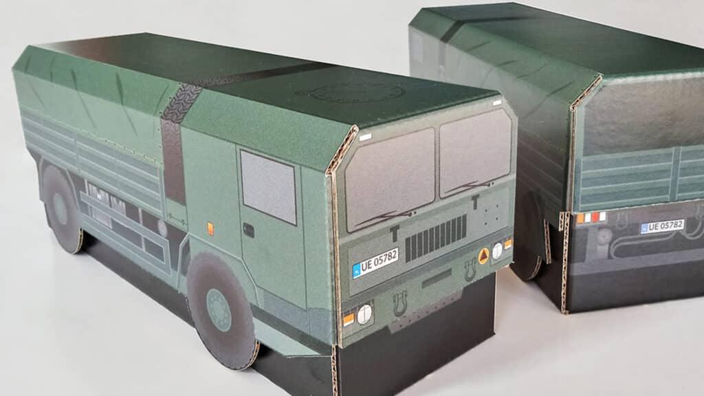 Ciężarówka wojskowa Jelcz Bartek - opakowanie kartonowe.
